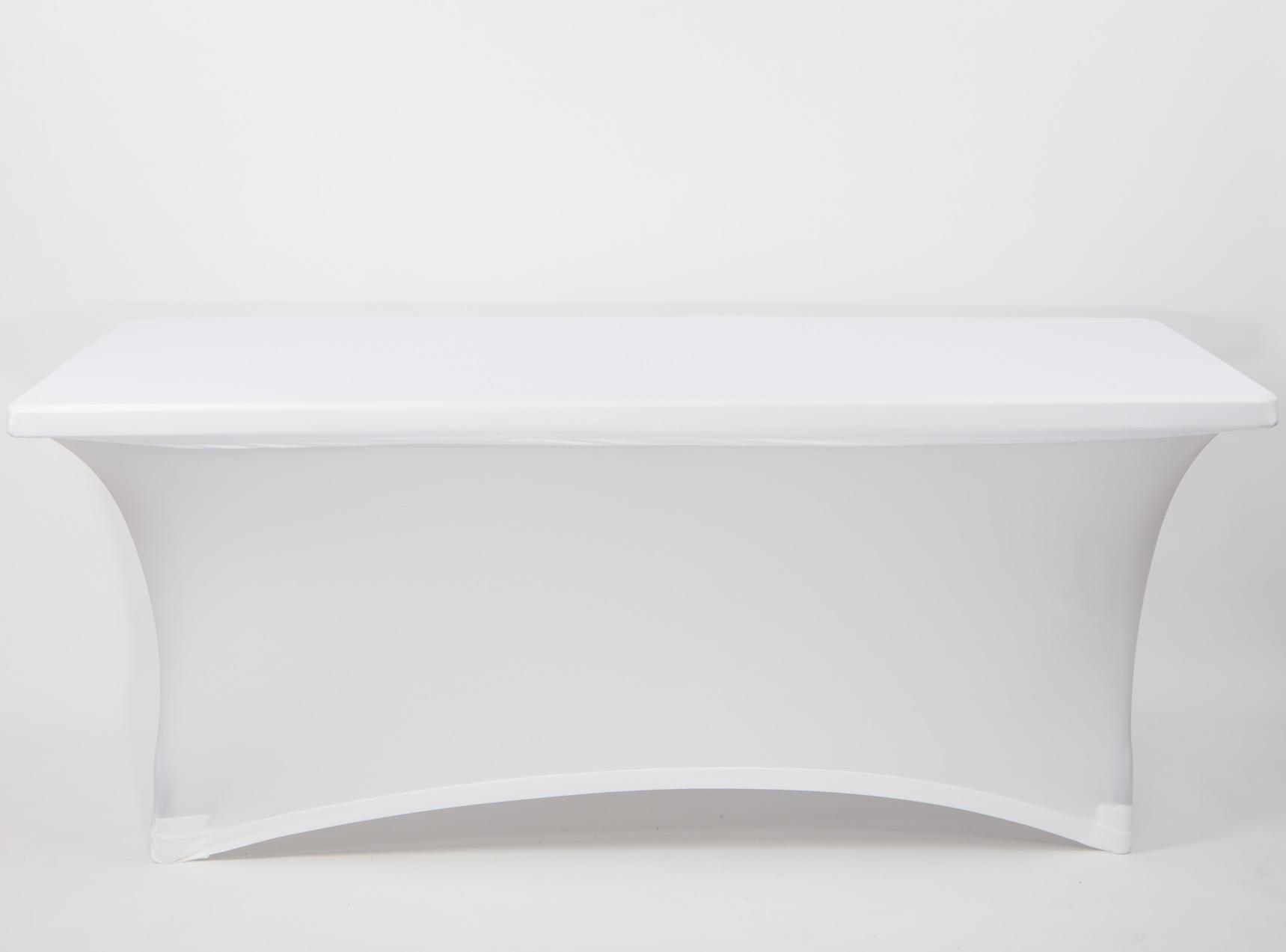 Spandex táblaasztal huzat, fehér