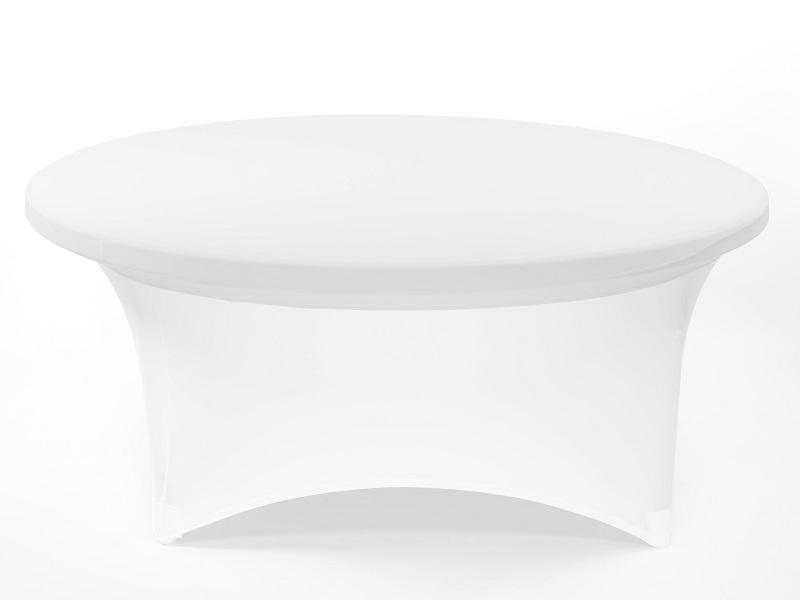 Spandex körasztal huzat, fehér 180cm