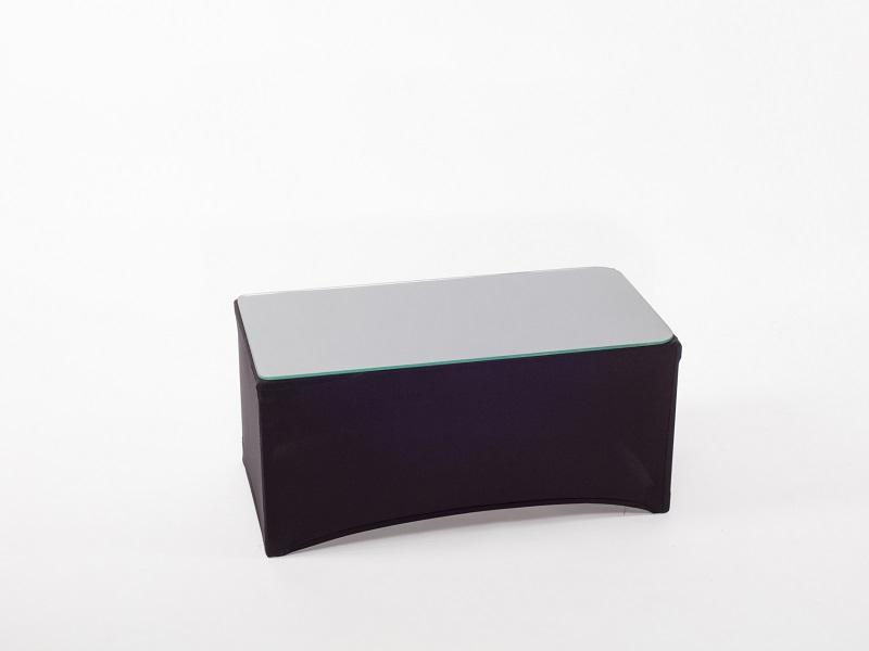 Dohányzóasztal spandex huzattal, fekete 80x40cm