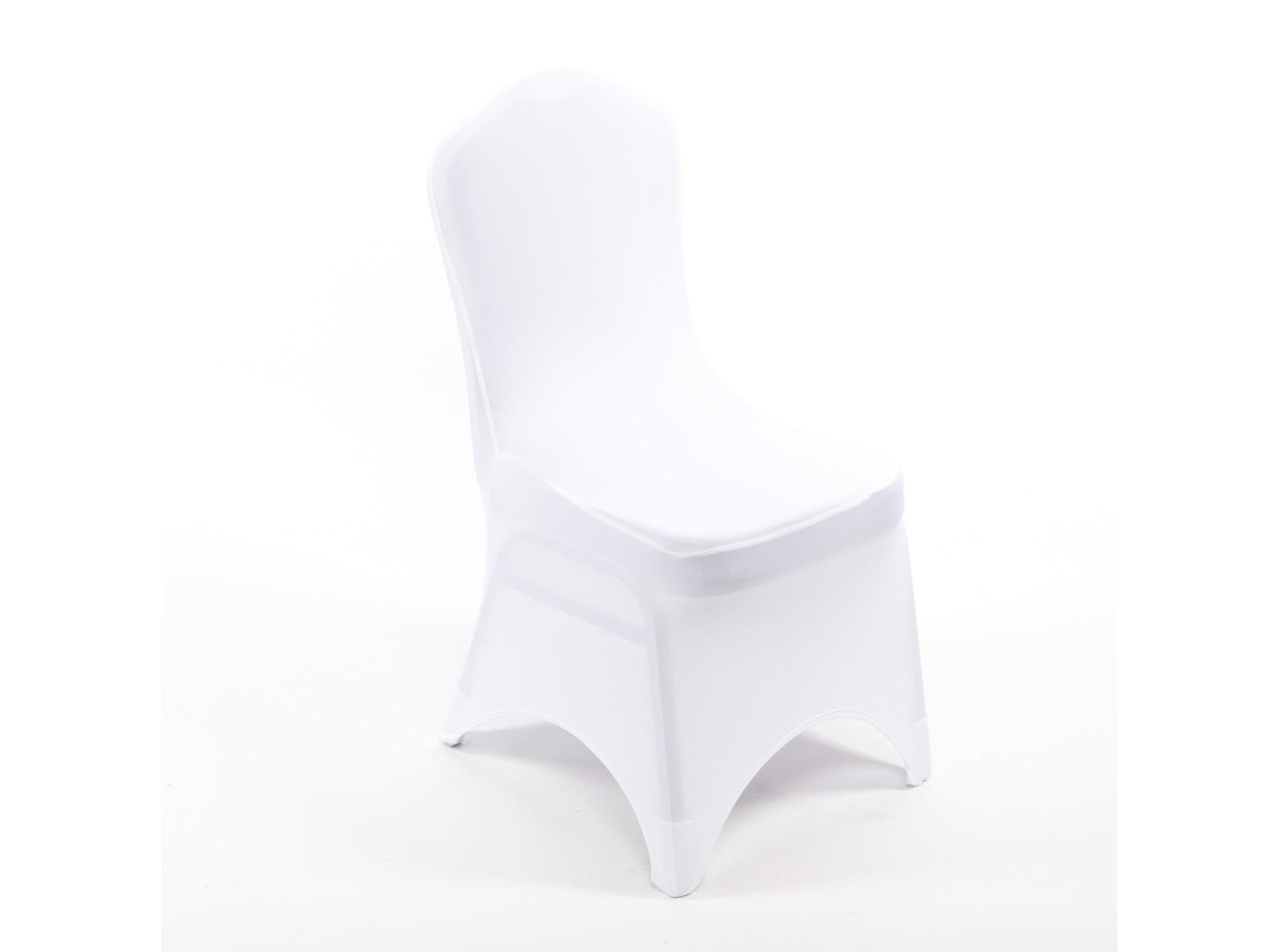Spandex székhuzat, fehér