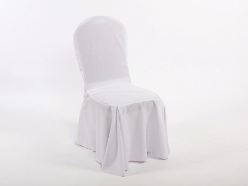 Bankett szék székhuzattal, fehér