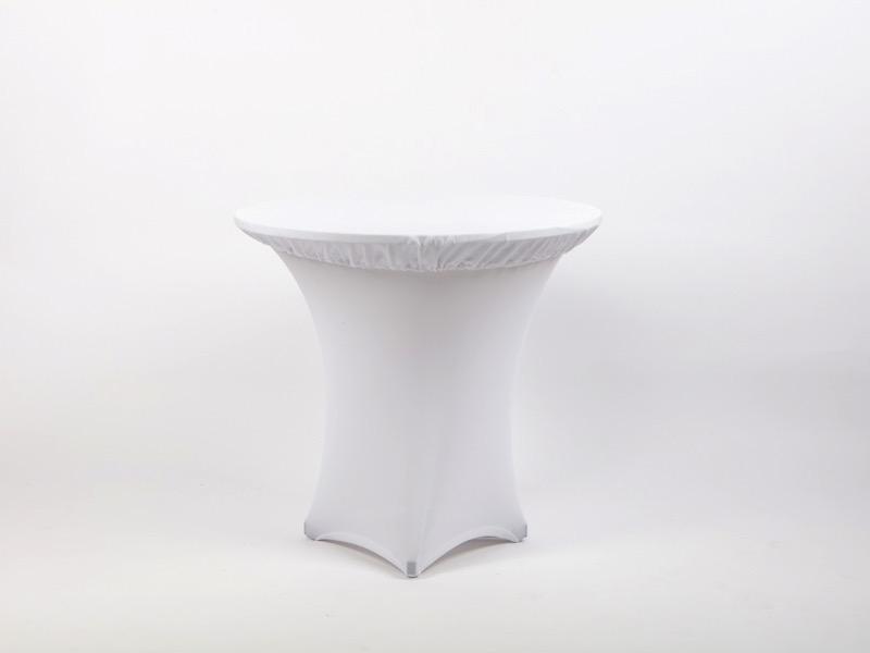 Spandex körasztal huzat, fehér 80cm