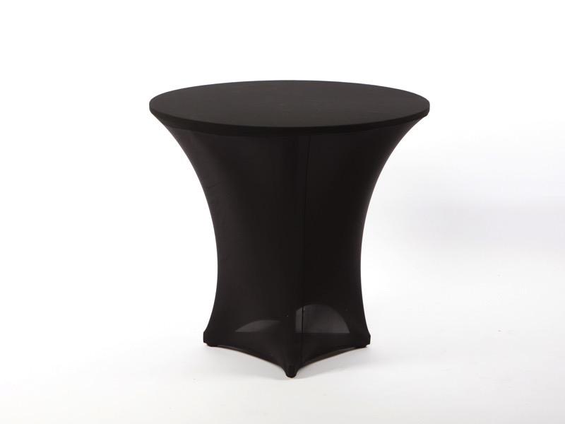 Spandex körasztal huzat, fekete 80cm