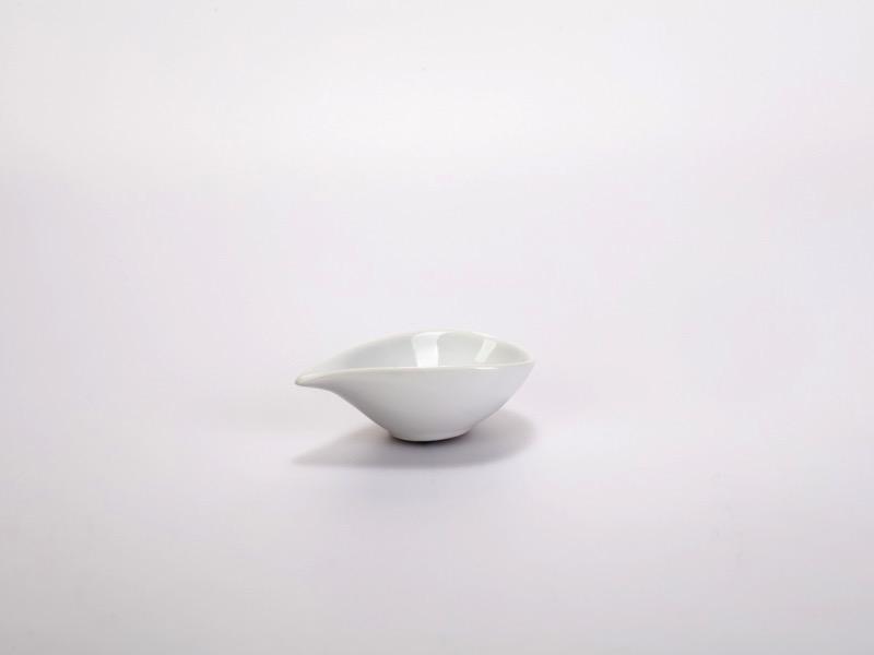 Fingerfood porcelán tálka, kicsi csepp