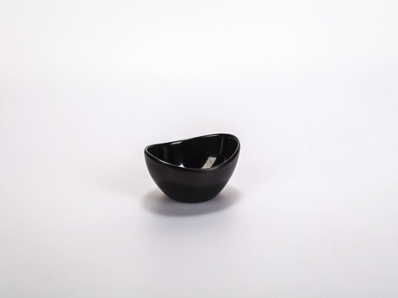 Fingerfood melamin tálka, fekete ovális