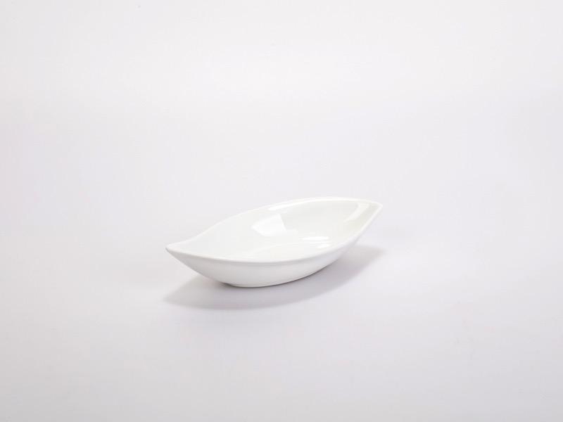 Fingerfood porcelán tálka, falevél