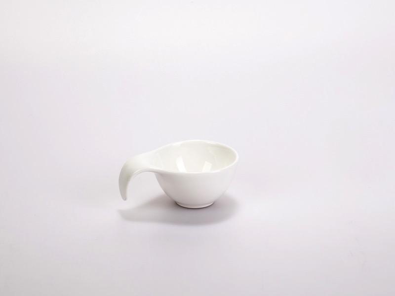 Fingerfood porcelán tálka, kicsi füles