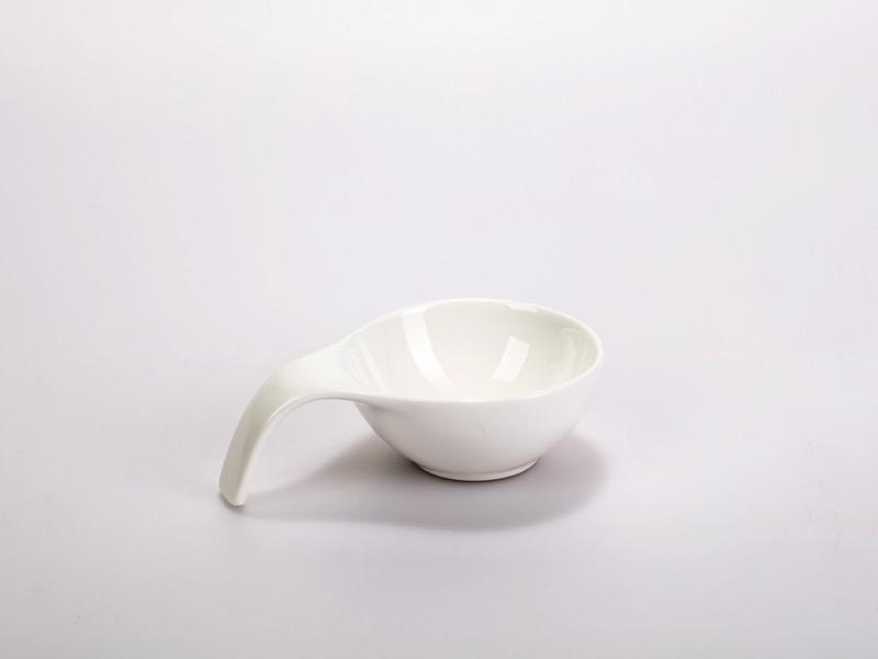 Fingerfood porcelán tálka, nagy füles