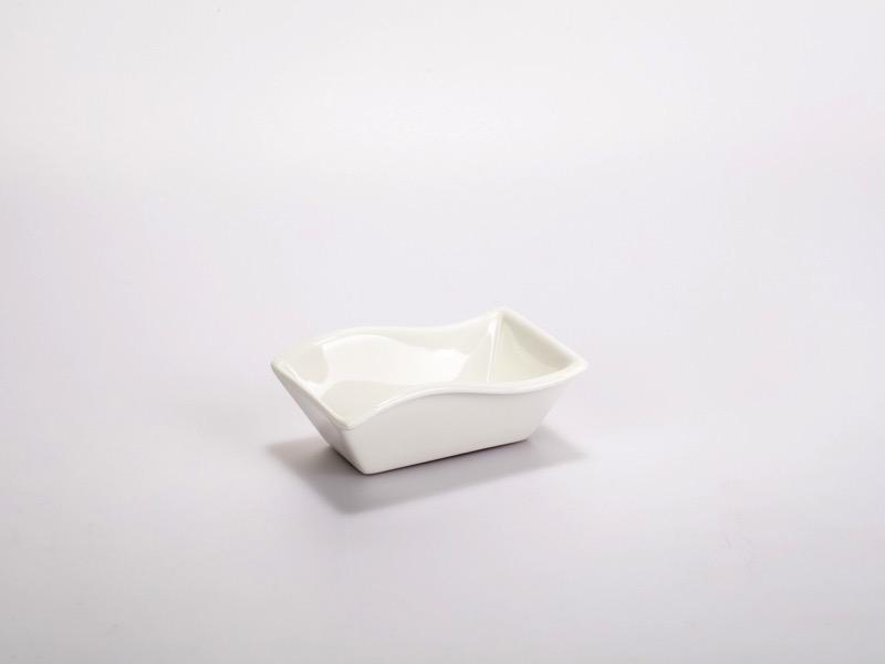 Fingerfood porcelán tálka, hullámtégla