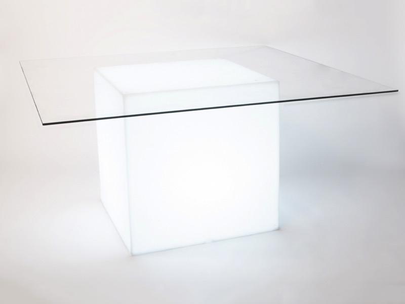 Plexi asztal világítással 147*147cm
