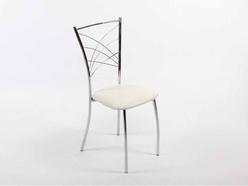 Amerikai szék, fehér (króm)