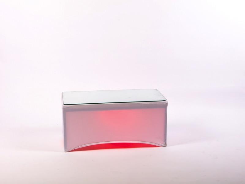 Dohányzóasztal RGB-LED világítással 80*40cm