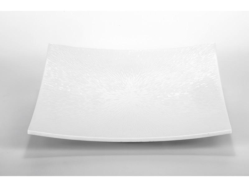 Melamin kínáló tálca, fehér 32*32cm
