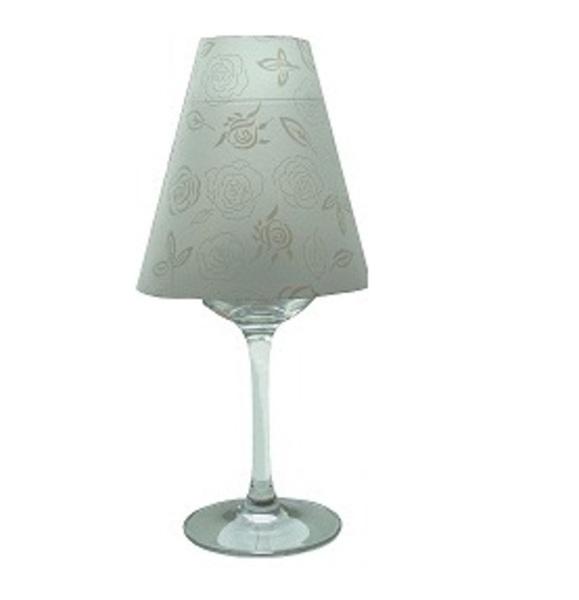 Kreatív lámpa - boros pohár és búra