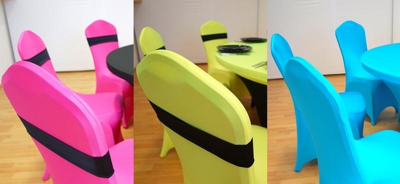 Színes spandex székhuzatok