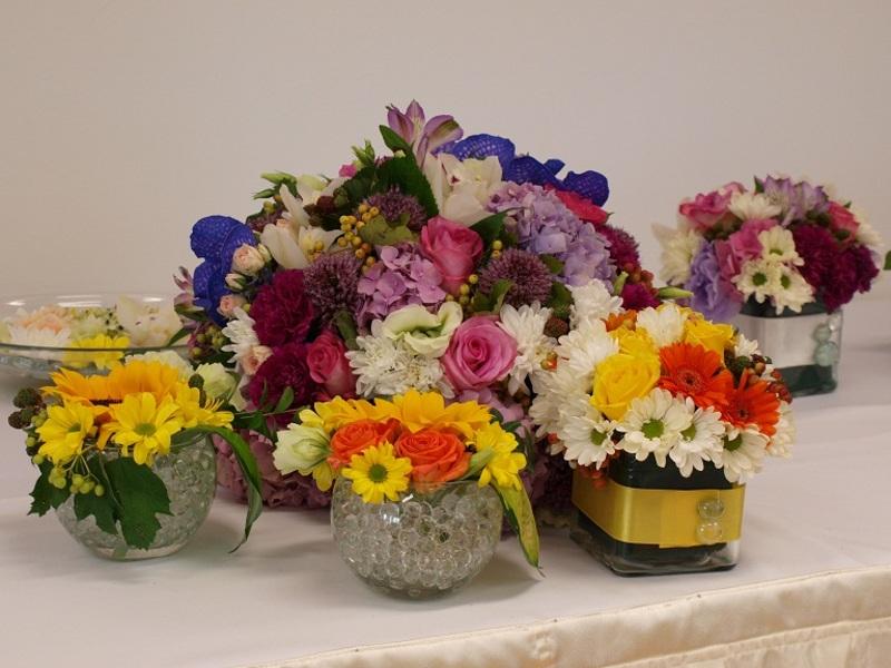Virágdekoráció - egyedi