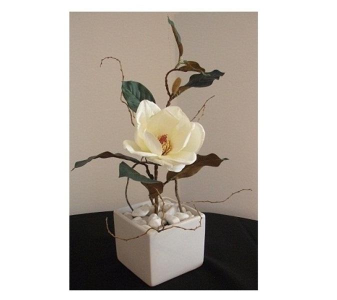 Virágdekoráció négyzet kaspó