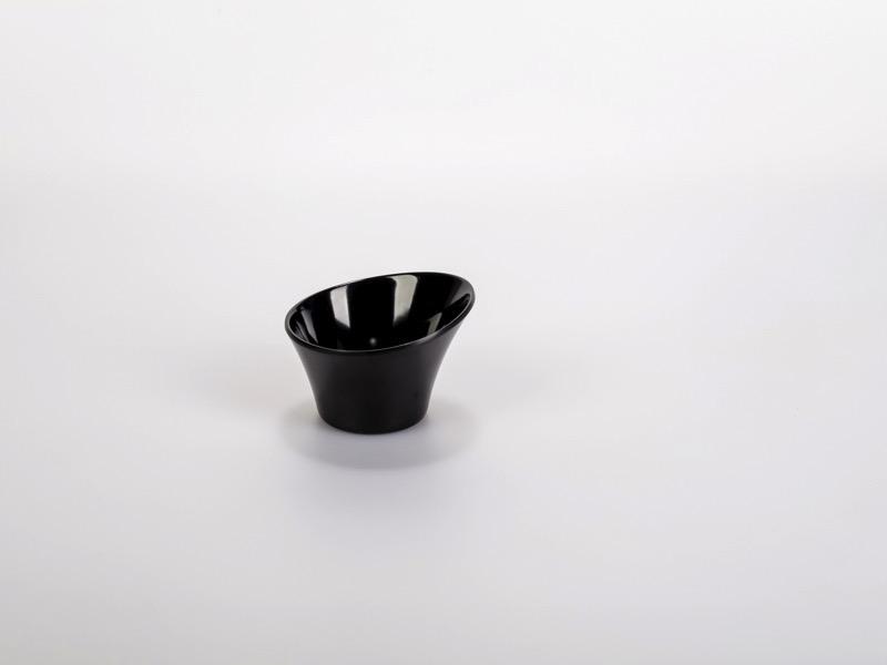 Fingerfood melamin tálka, fekete Dits