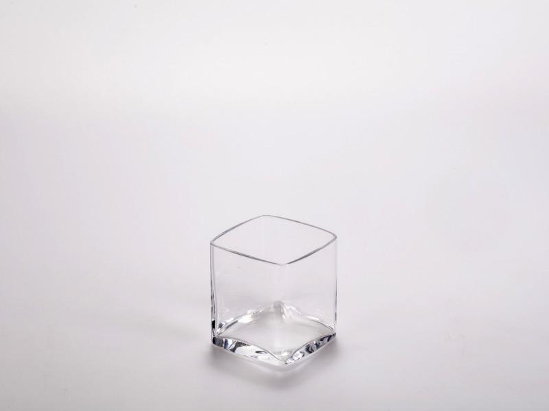 Fingerfood üveg pohár, négyszög