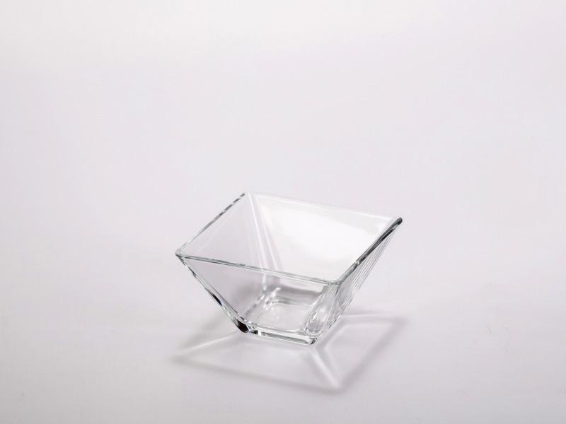 Fingerfood üveg tálka 8*8cm