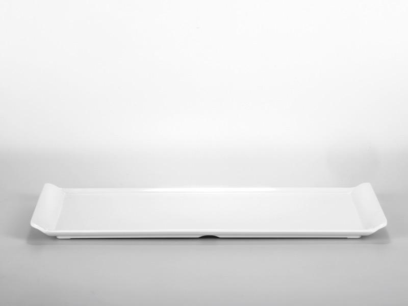 Melamin kínáló tálca, fehér 38*16cm