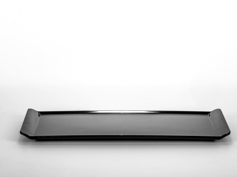 Melamin kínáló tálca, fekete 16*38cm