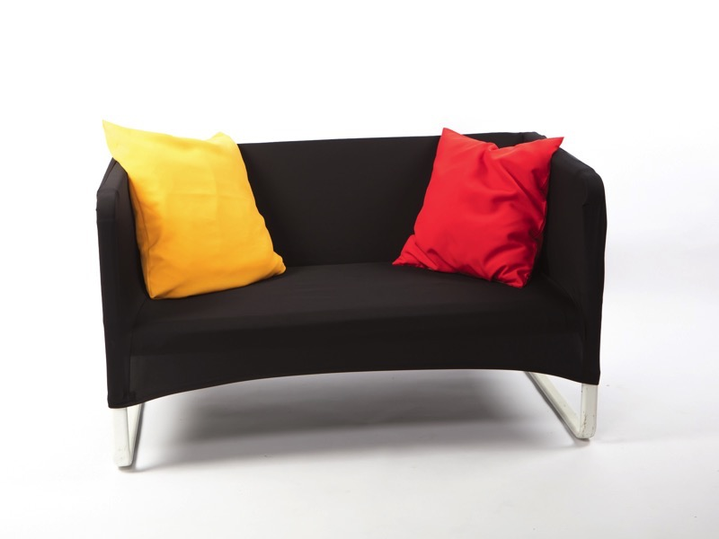 Fotel spandex huzattal, fekete